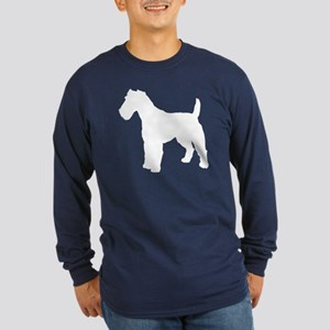 Fox Terrier Silhouette Long Sleeve Dark T-Shirt