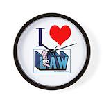 Lawyers in Love Wall Clock