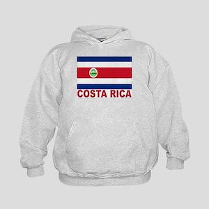 Costa Rica Flag Kids Hoodie