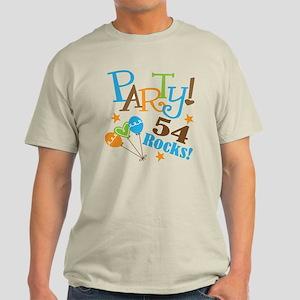 54 Rocks 54th Birthday Light T-Shirt