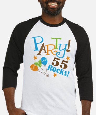 55 Rocks 55th Birthday Baseball Jersey