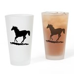 Gallopoing Horse Drinking Glass