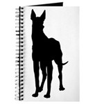 Christmas or Holiday Great Dane Silhouette Journal