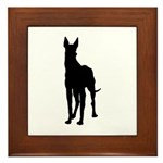 Christmas or Holiday Great Dane Silhouette Framed