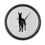 Great Dane Silhouette Large Wall Clock