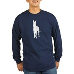 Great Dane Silhouette Long Sleeve Dark T-Shirt