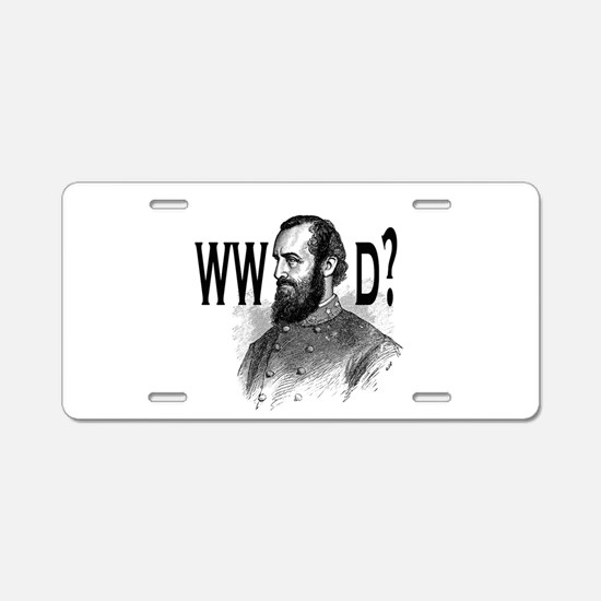 What Would Jackson Do? Aluminum License Plate