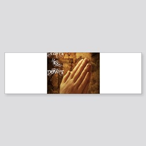 Prayer is Power Sticker (Bumper)