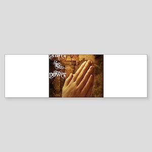 Prayer is Power Sticker (Bumper)