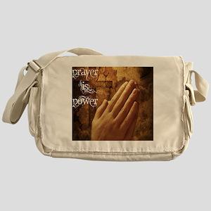 Prayer is Power Messenger Bag