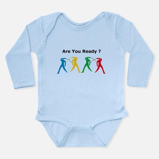 Foil Long Sleeve Infant Bodysuit