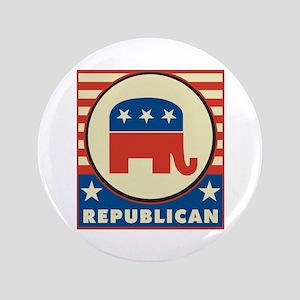 """Retro Republican 3.5"""" Button"""