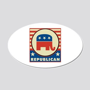 Retro Republican 22x14 Oval Wall Peel