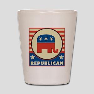 Retro Republican Shot Glass