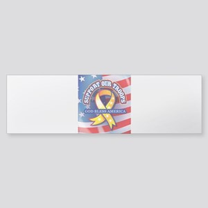 Support Our Troops Sticker (Bumper)