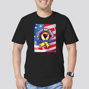 Support Our Troops Men's Fitted T-Shirt (dark)