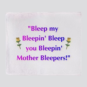 Bleeped! Throw Blanket