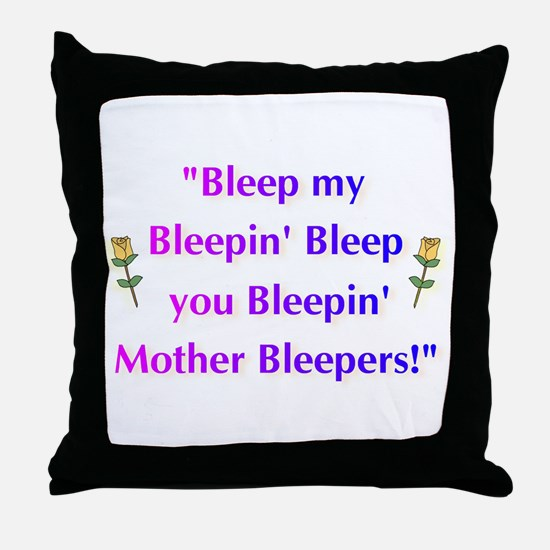 Bleeped! Throw Pillow