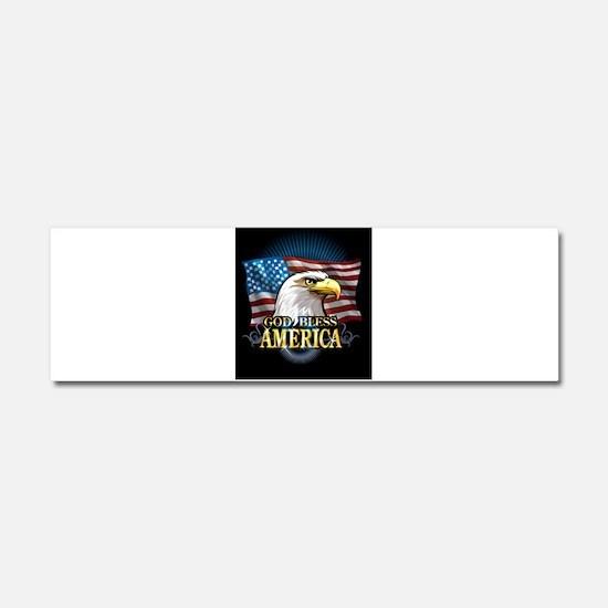 American Flags Car Magnet 10 x 3