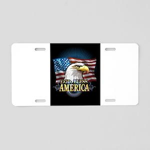 American Flags Aluminum License Plate