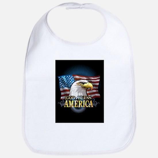 American Flags Bib