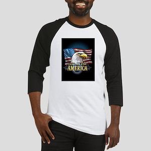 American Flags Baseball Jersey
