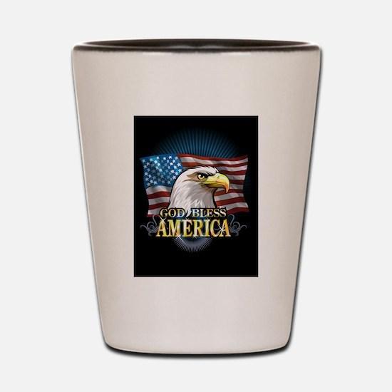 American Flags Shot Glass