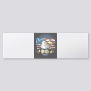 American Flags Sticker (Bumper)