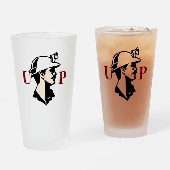 U.P. Miner Drinking Glass