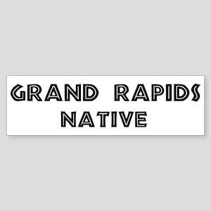 Grand Rapids Native Bumper Sticker
