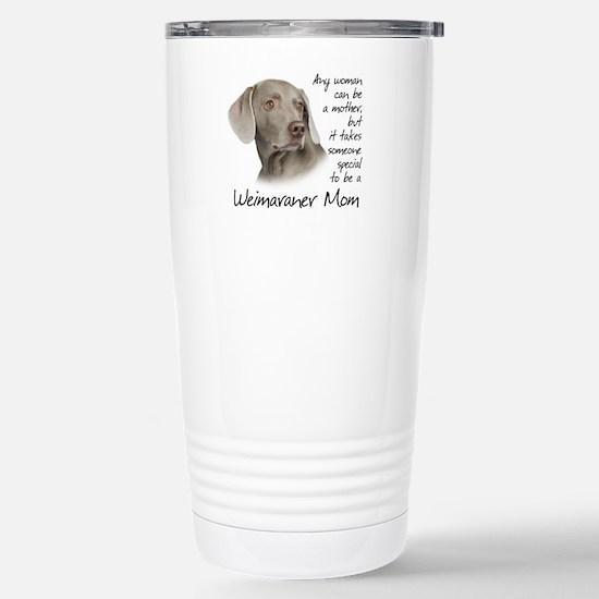 Weimaraner Mom Stainless Steel Travel Mug