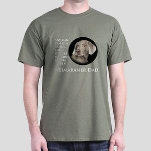 Weimaraner Dad Dark T-Shirt