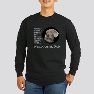 Weimaraner Dad Long Sleeve Dark T-Shirt
