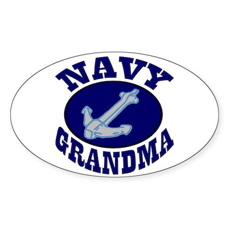 Navy Grandma Oval Sticker