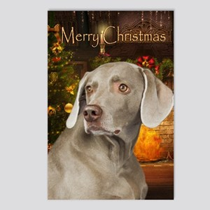 Weimaraner Holiday Postcards (Package of 8)
