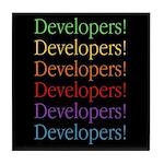 Developers (black) Tile Coaster