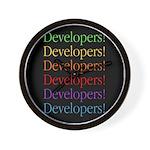 Developers (black) Wall Clock