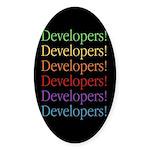 Developers (black) Oval Sticker