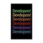 Developers (black) Rectangle Sticker