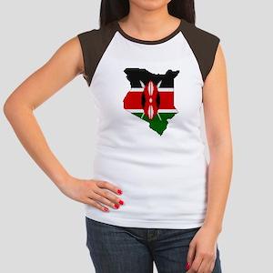 """Pixel Kenya"" Women's Cap Sleeve T-Shirt"