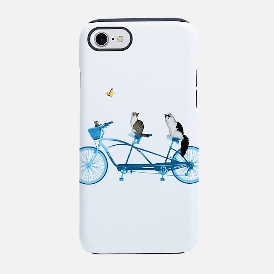 Cat's on a Bike iPhone 7 Tough Case