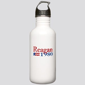 Reagan 1980 - Distressed Stainless Water Bottle 1.