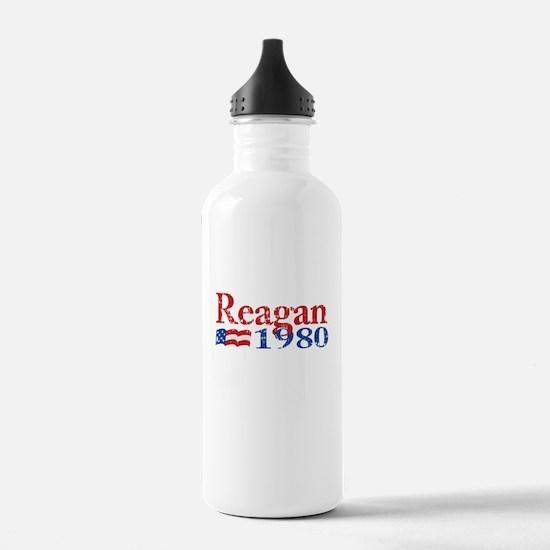 Reagan 1980 - Distressed Sports Water Bottle