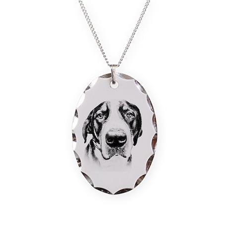 SWISS MOUNTAIN DOG - Necklace Oval Charm