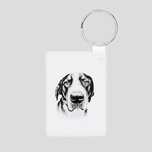 SWISS MOUNTAIN DOG - Aluminum Photo Keychain