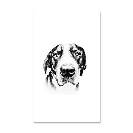 SWISS MOUNTAIN DOG - 22x14 Wall Peel