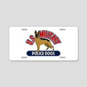 Military Police Dogs Aluminum License Plate