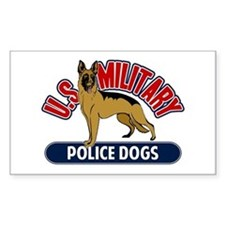 Military Police Dogs Sticker (Rectangle)
