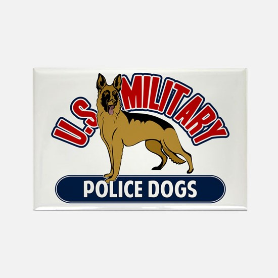 Military Police Dogs Rectangle Magnet