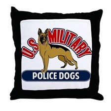 Military Police Dogs Throw Pillow